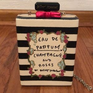 Betsey Johnson Champagne and roses bag